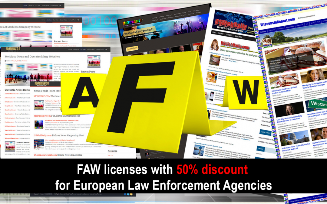 FAW licenses with 50% discount for European Law Enforcement Agencies